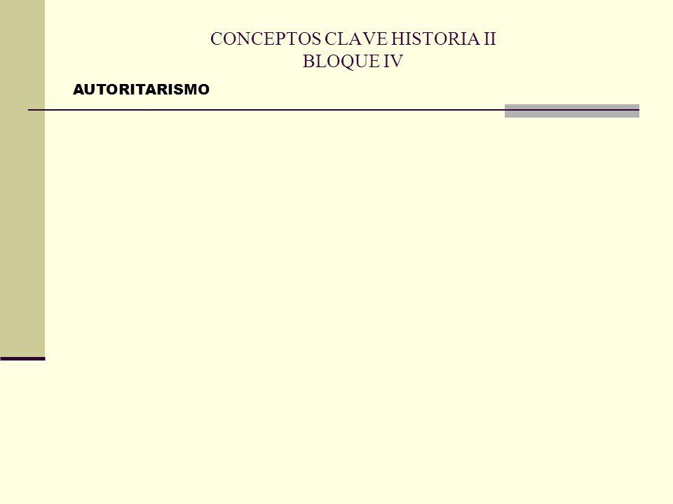 CONCEPTOS CLAVE HISTORIA II BLOQUE IV