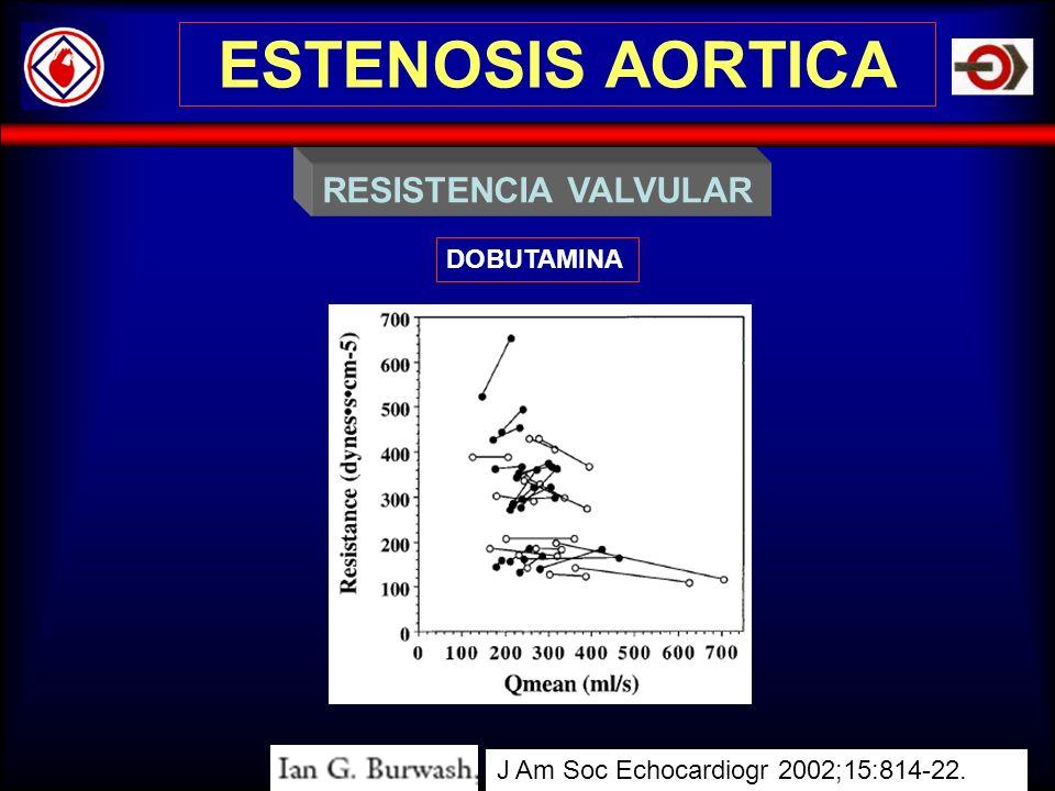 ESTENOSIS AORTICA RESISTENCIA VALVULAR DOBUTAMINA