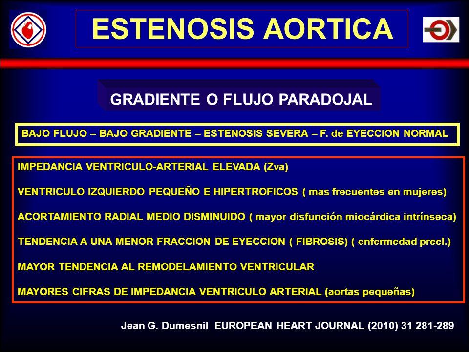 ESTENOSIS AORTICA GRADIENTE O FLUJO PARADOJAL