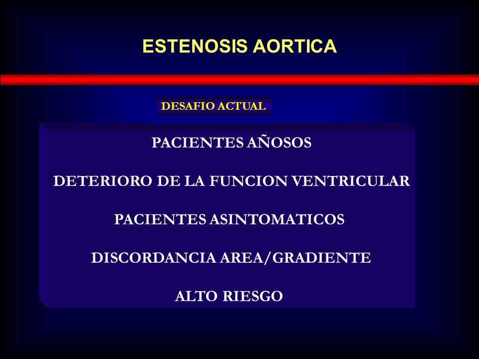 ESTENOSIS AORTICA PACIENTES AÑOSOS DETERIORO DE LA FUNCION VENTRICULAR