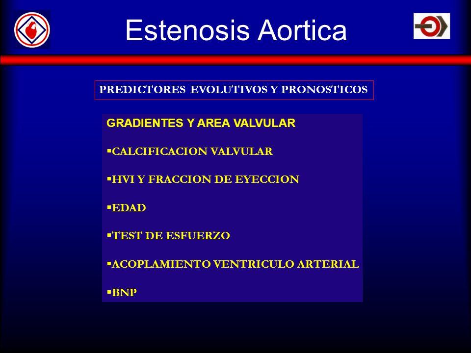 Estenosis Aortica PREDICTORES EVOLUTIVOS Y PRONOSTICOS