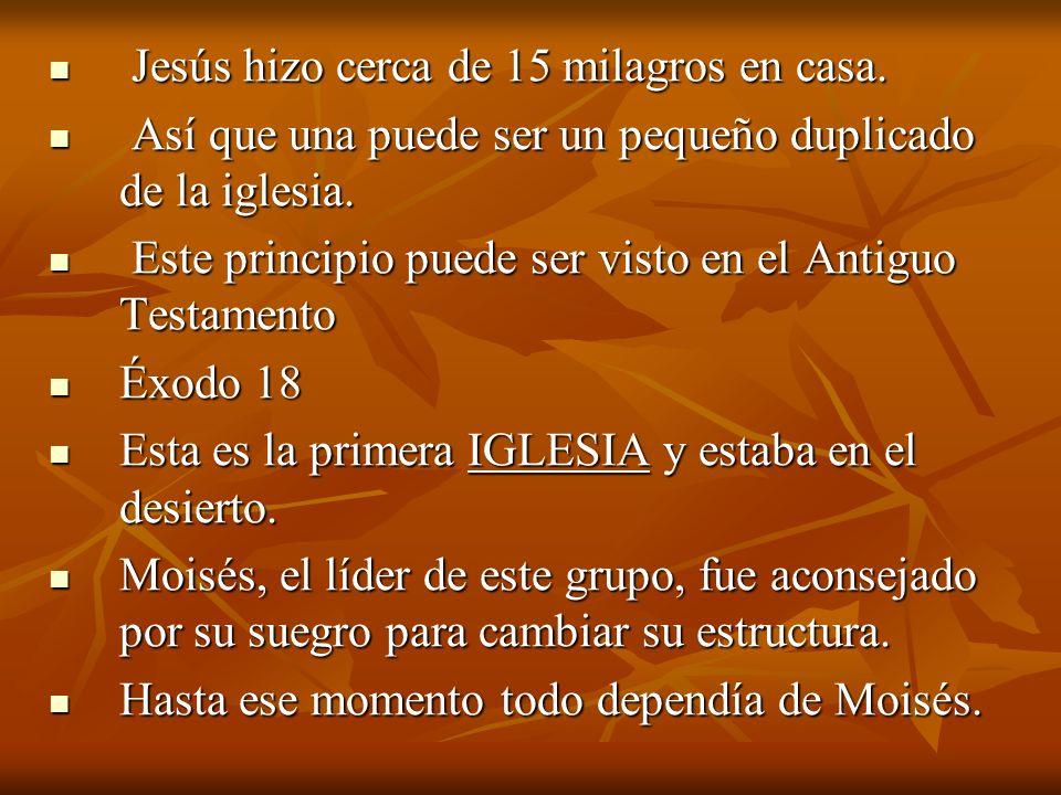 Jesús hizo cerca de 15 milagros en casa.