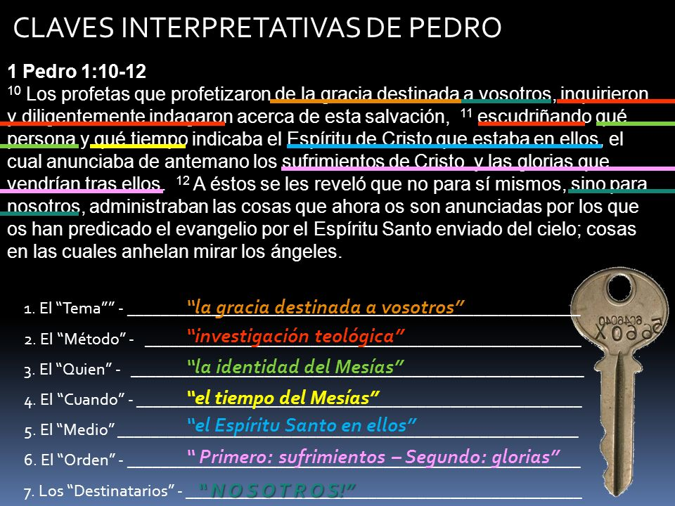 CLAVES INTERPRETATIVAS DE PEDRO