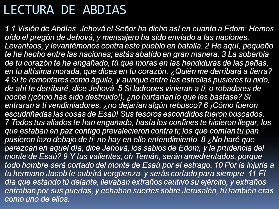 LECTURA DE ABDIAS
