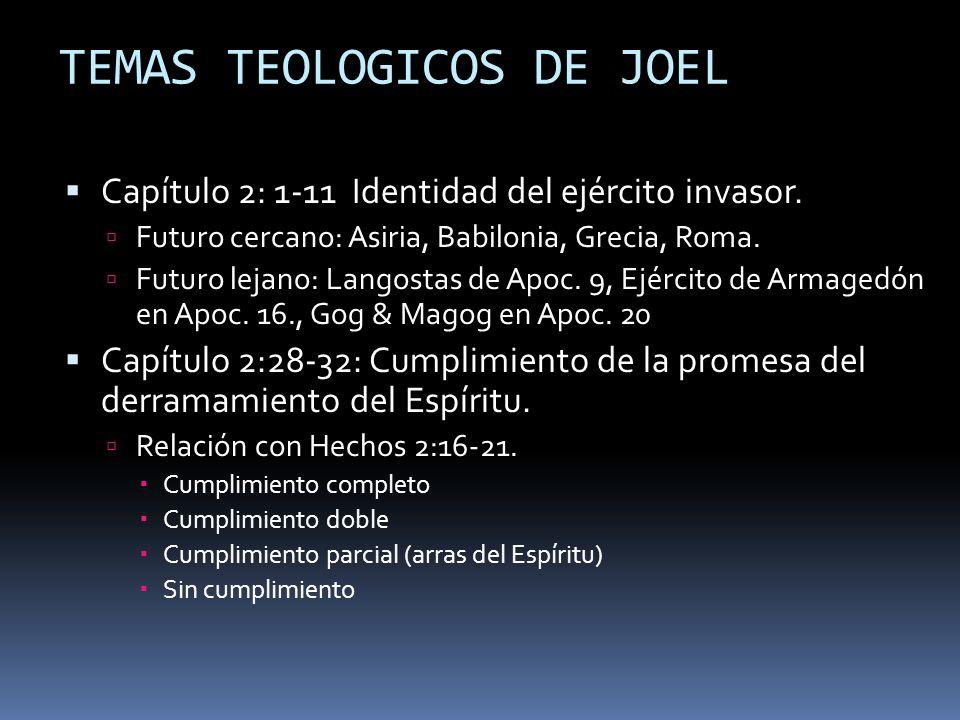 TEMAS TEOLOGICOS DE JOEL
