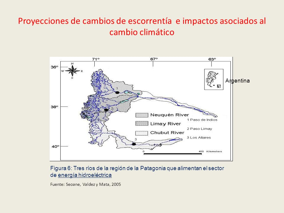 Proyecciones de cambios de escorrentía e impactos asociados al cambio climático