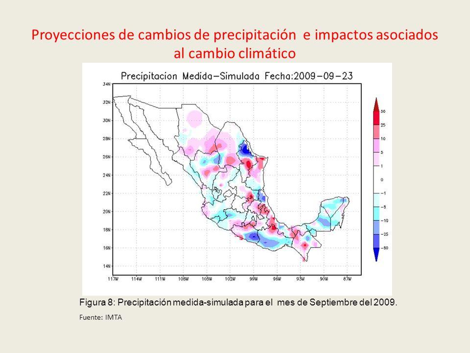 Proyecciones de cambios de precipitación e impactos asociados al cambio climático