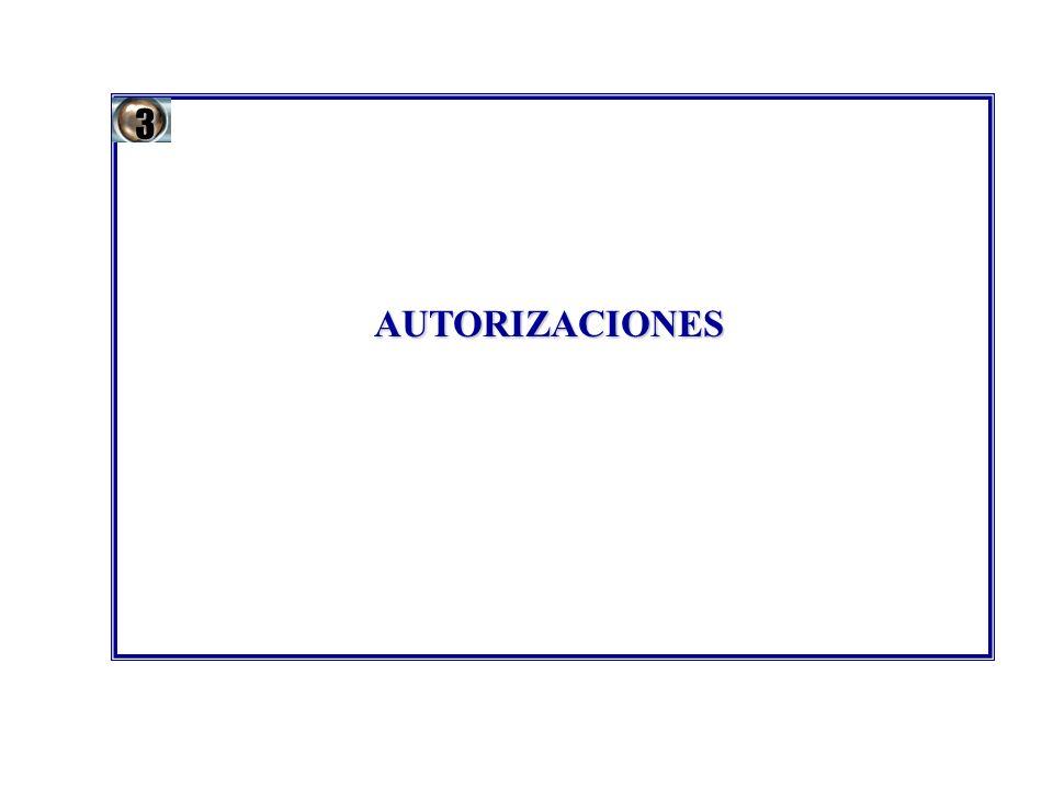 3 AUTORIZACIONES 16