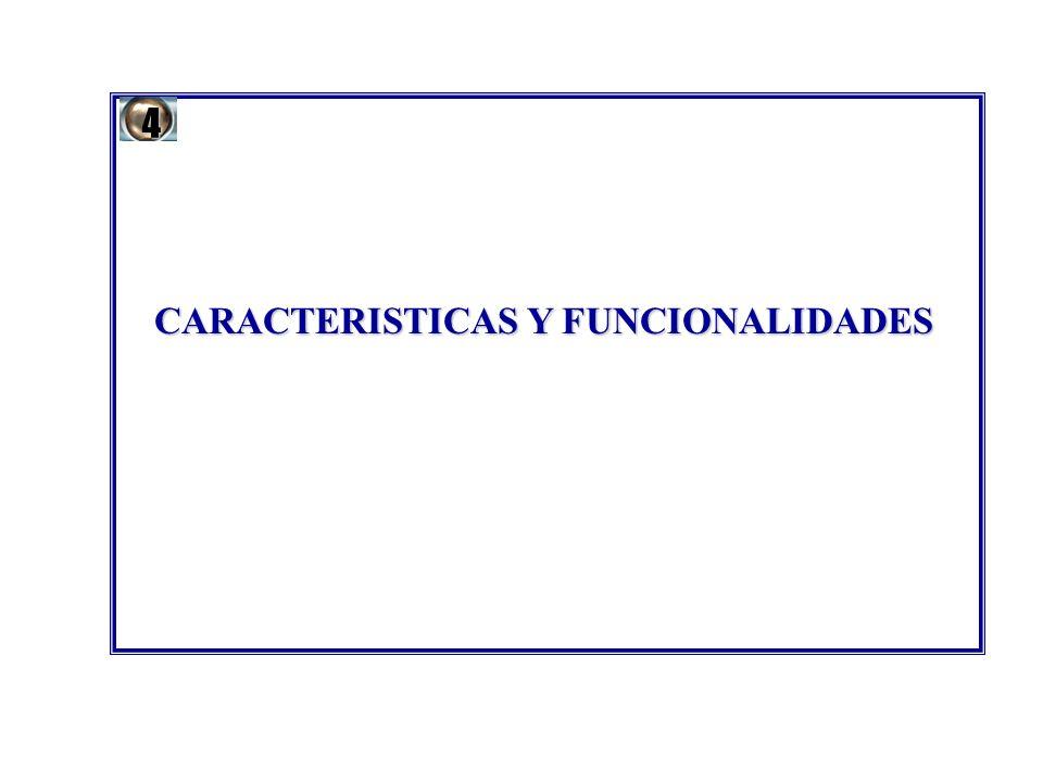 CARACTERISTICAS Y FUNCIONALIDADES