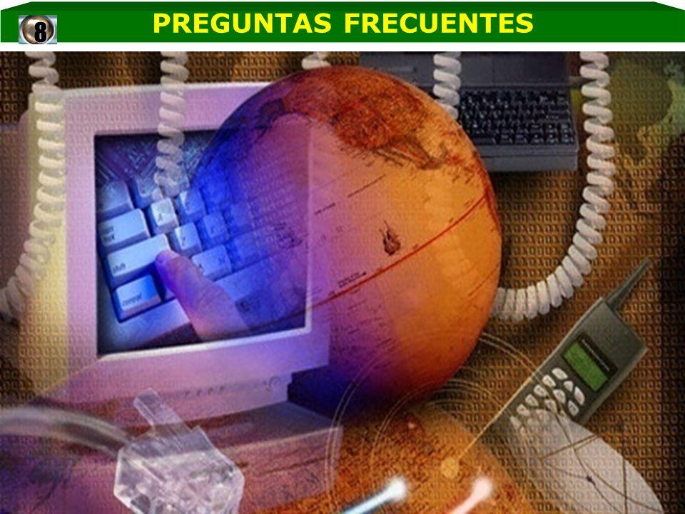 PREGUNTAS FRECUENTES 8