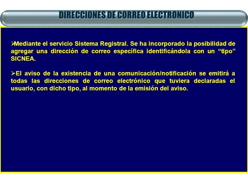 DIRECCIONES DE CORREO ELECTRONICO