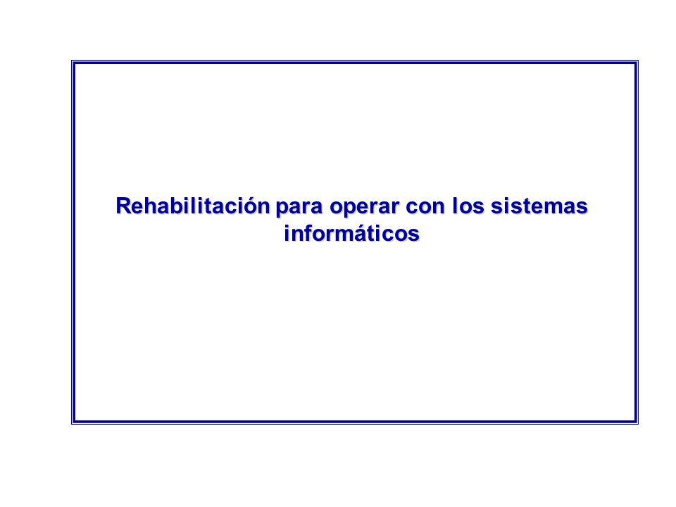 Rehabilitación para operar con los sistemas informáticos