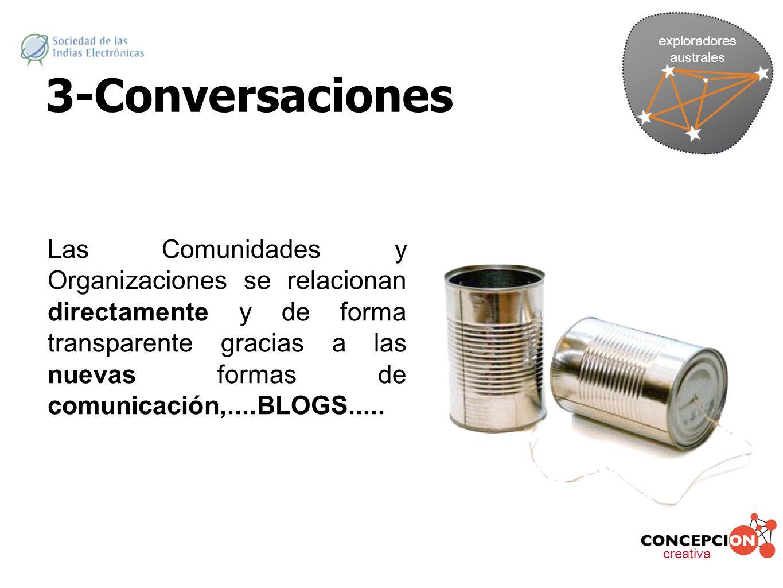 exploradores australes. 3-Conversaciones.