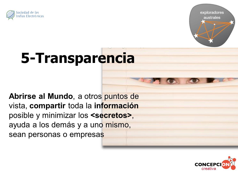 exploradores australes. 5-Transparencia.