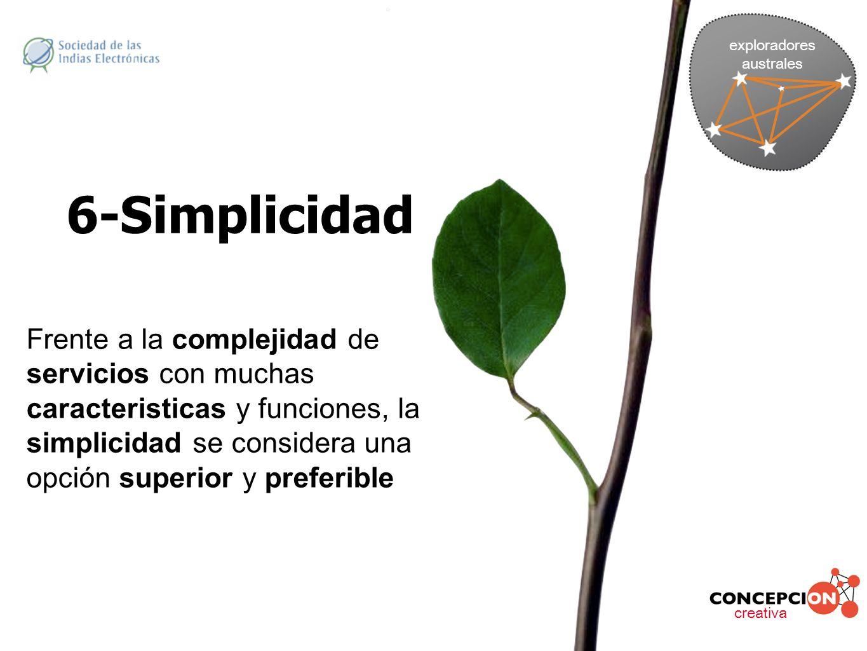 exploradores australes. 6-Simplicidad.