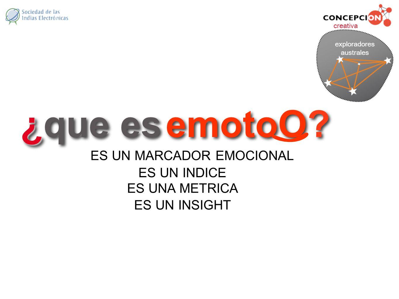 ¿que es emotoO ES UN MARCADOR EMOCIONAL ES UN INDICE ES UNA METRICA