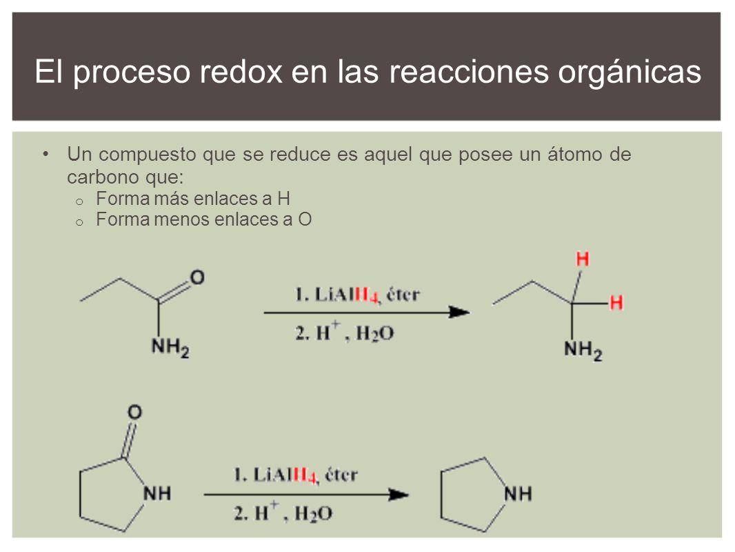 El proceso redox en las reacciones orgánicas