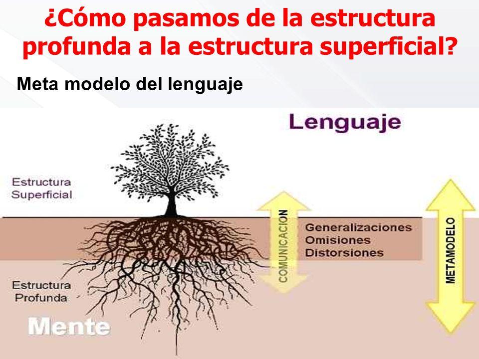¿Cómo pasamos de la estructura profunda a la estructura superficial