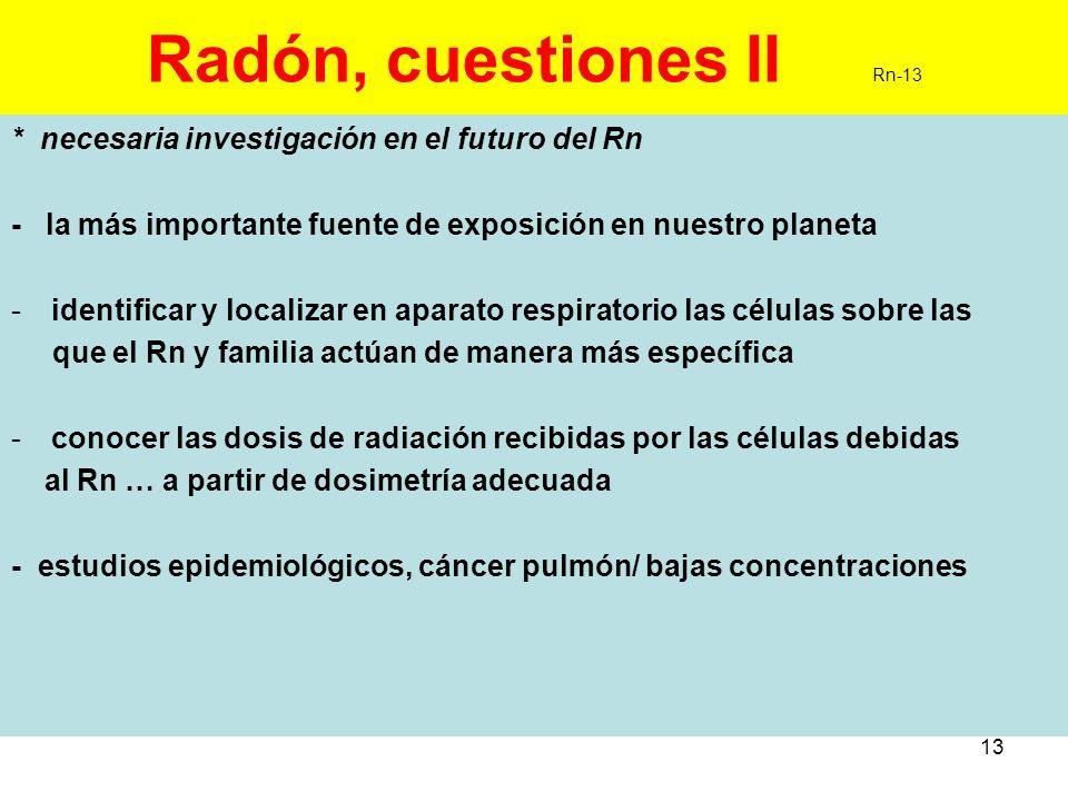 Radón, cuestiones II Rn-13