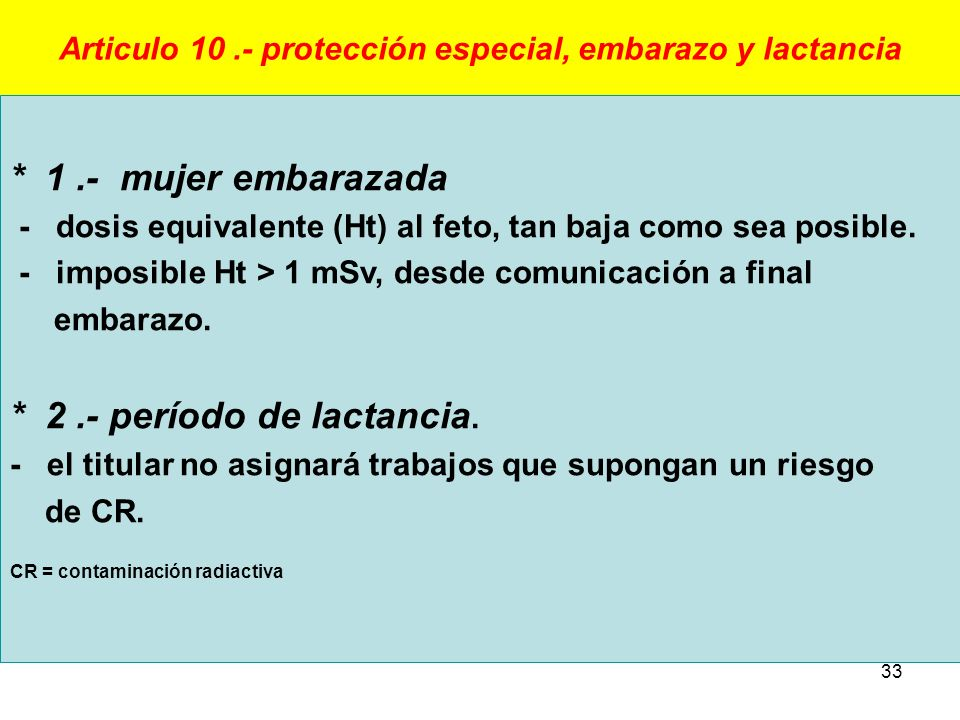 Articulo 10 .- protección especial, embarazo y lactancia