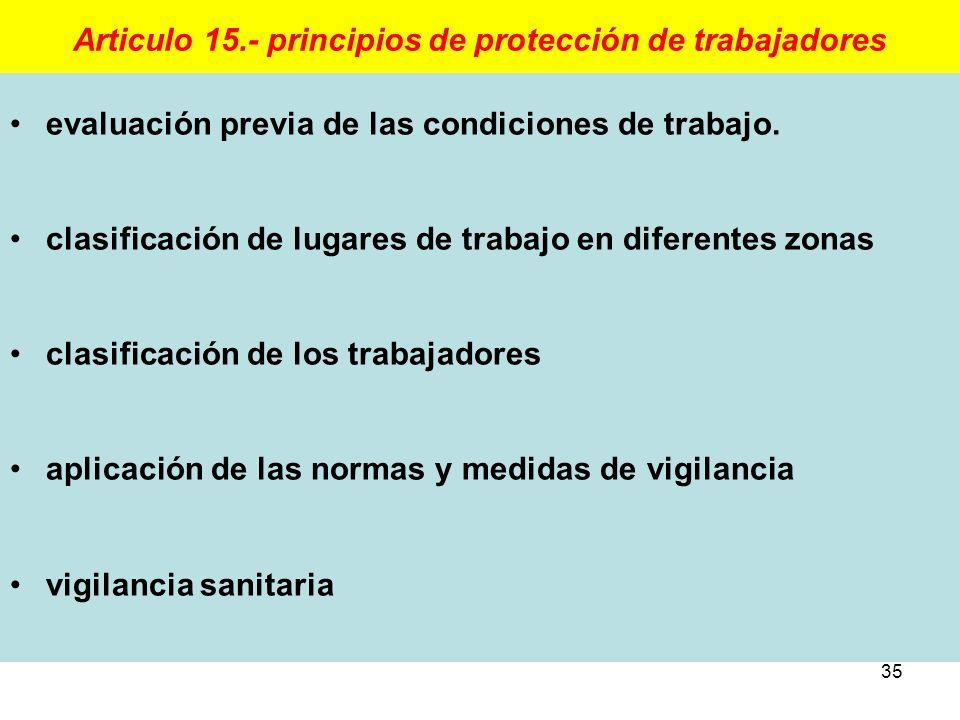Articulo 15.- principios de protección de trabajadores