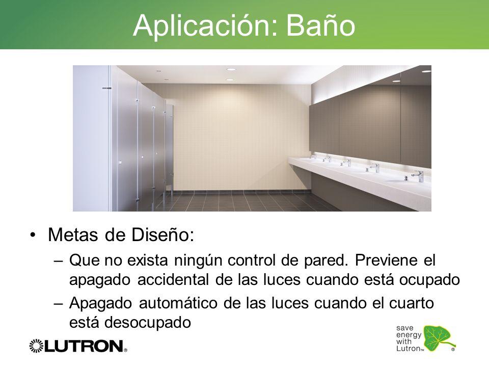 Aplicación: Baño Metas de Diseño: