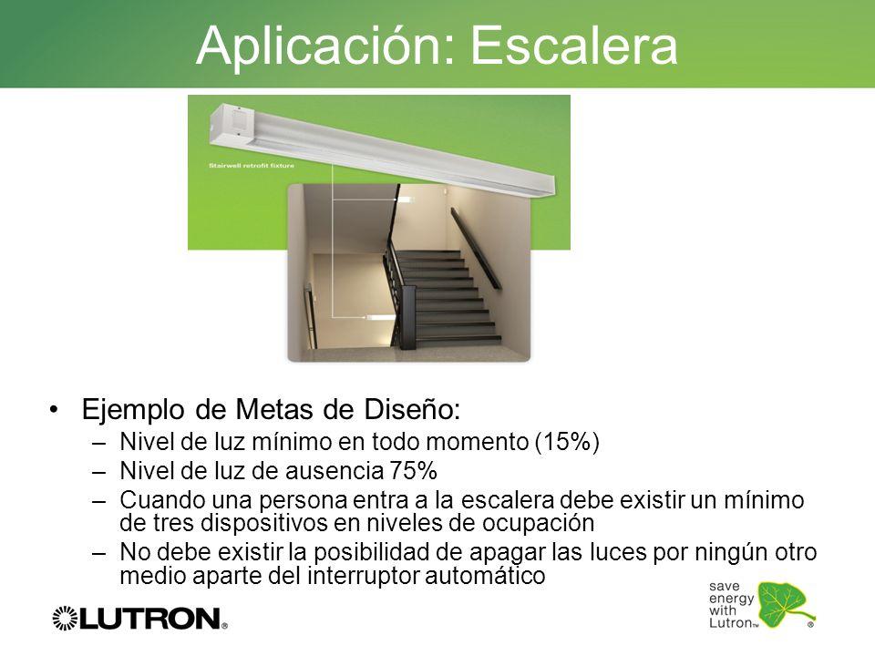 Aplicación: Escalera Ejemplo de Metas de Diseño:
