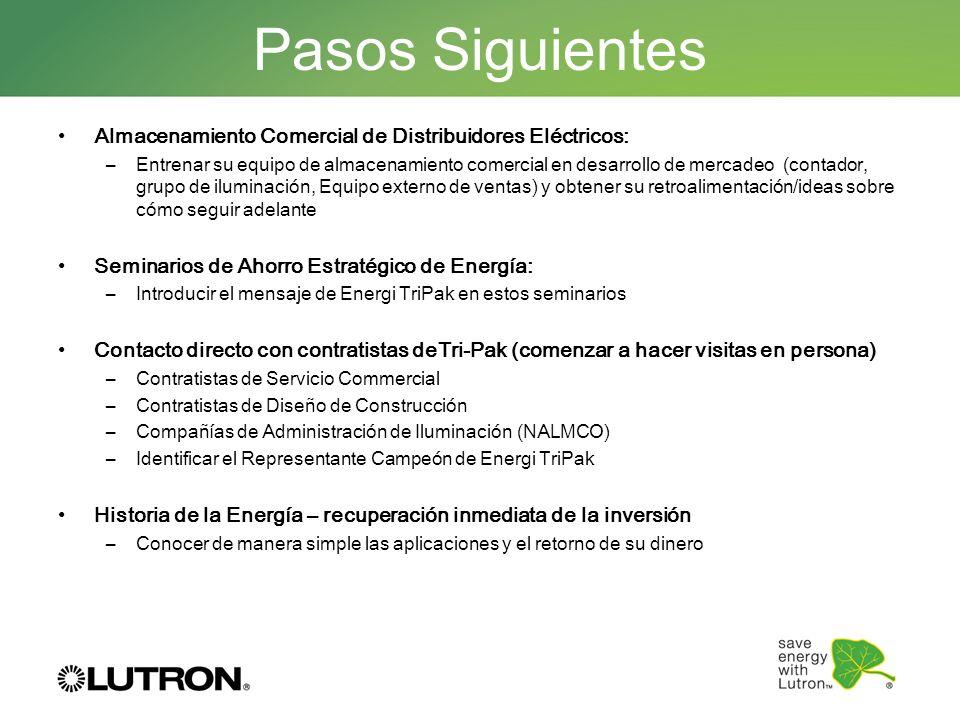 Pasos SiguientesAlmacenamiento Comercial de Distribuidores Eléctricos: