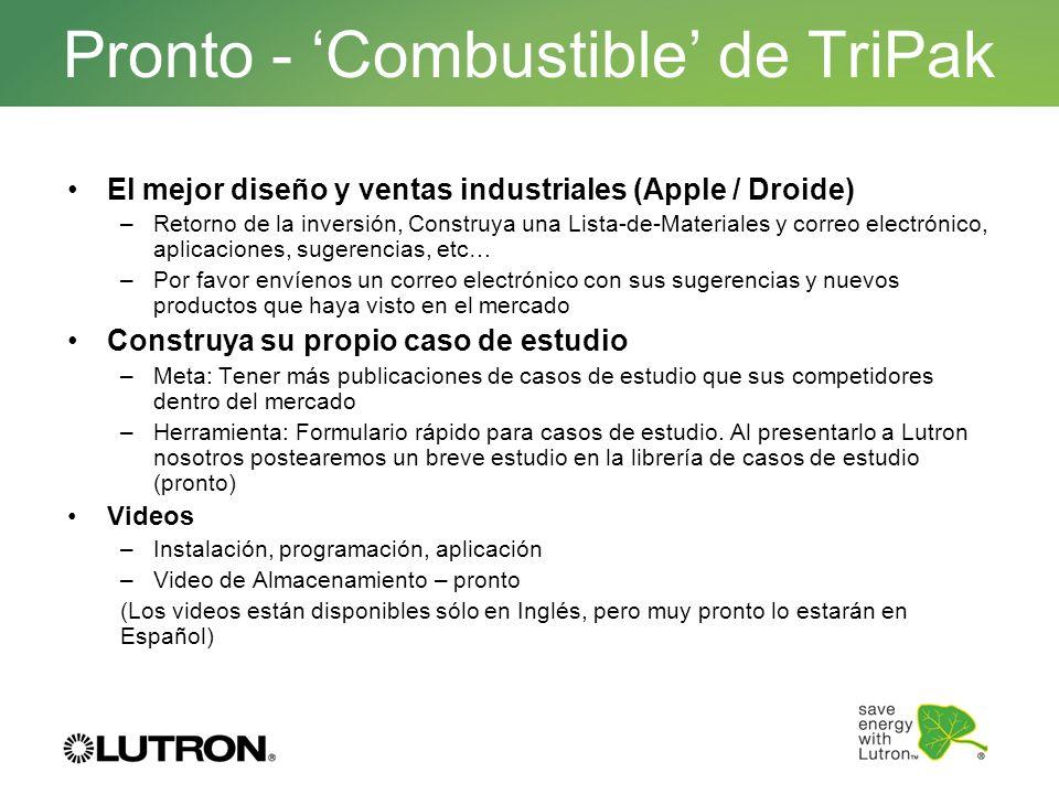 Pronto - 'Combustible' de TriPak