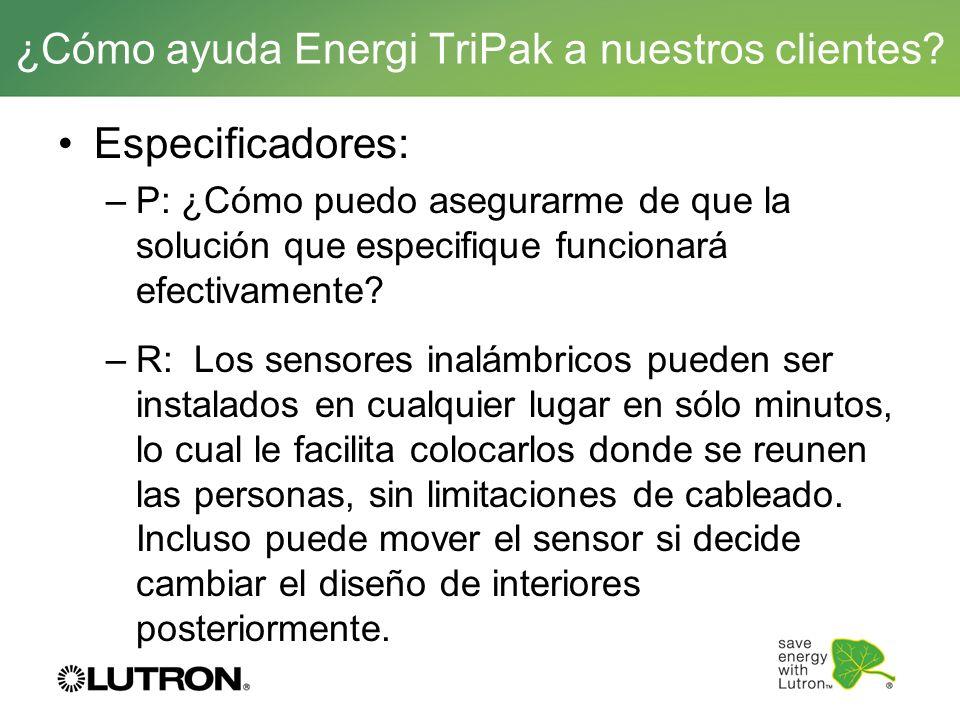 ¿Cómo ayuda Energi TriPak a nuestros clientes