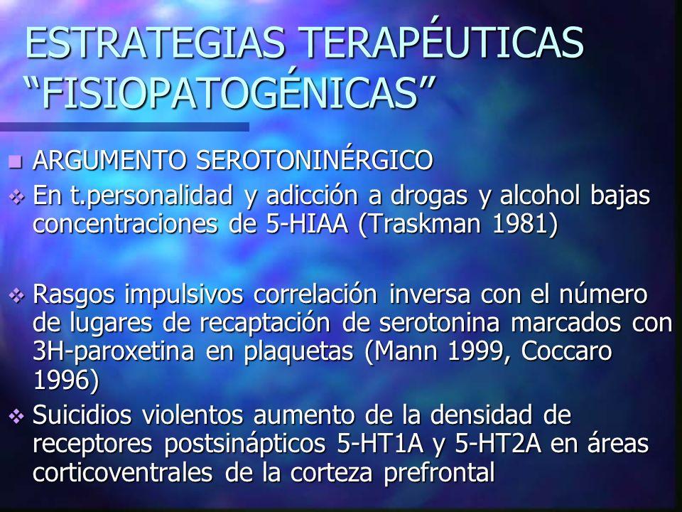 ESTRATEGIAS TERAPÉUTICAS FISIOPATOGÉNICAS