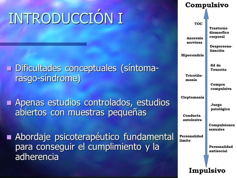 INTRODUCCIÓN I Dificultades conceptuales (síntoma-rasgo-síndrome)