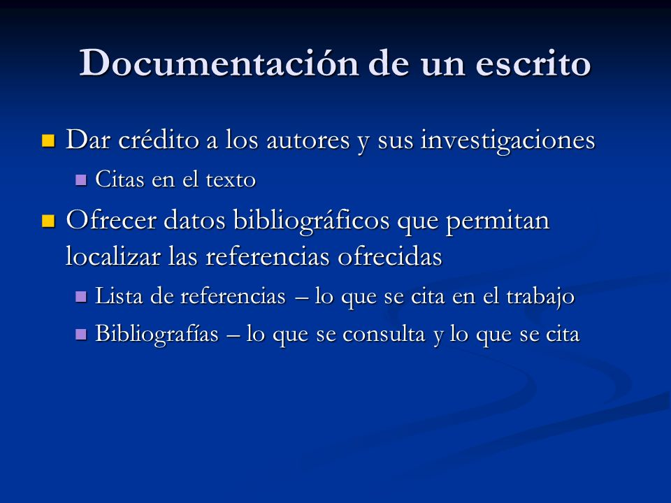 Documentación de un escrito