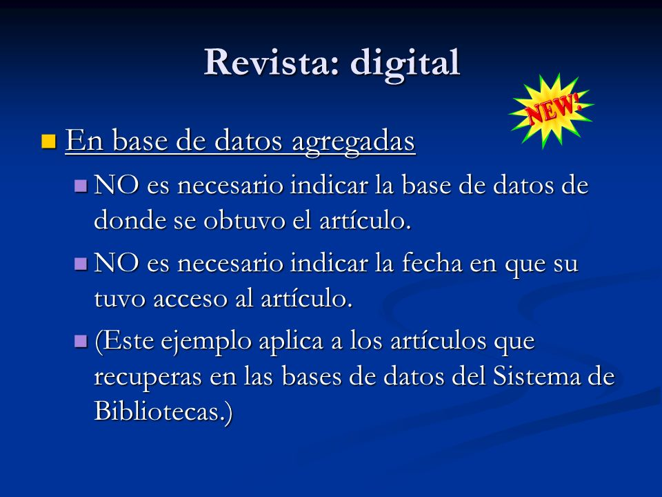 Revista: digital En base de datos agregadas