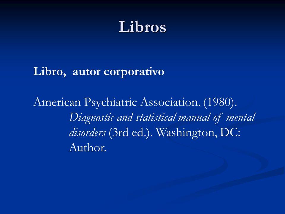 Libros Libro, autor corporativo