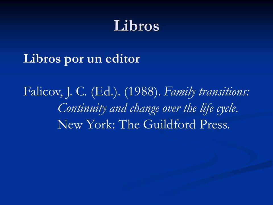 Libros Libros por un editor