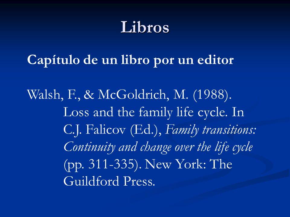 Libros Capítulo de un libro por un editor