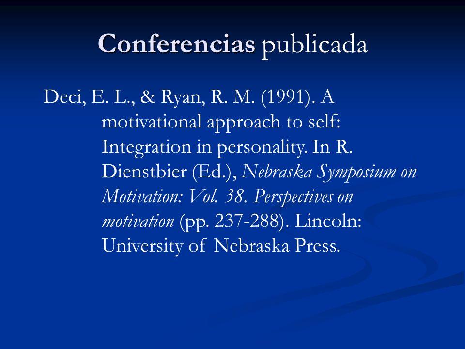 Conferencias publicada