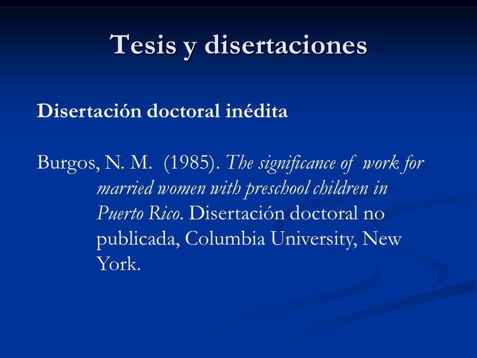 Tesis y disertaciones Disertación doctoral inédita