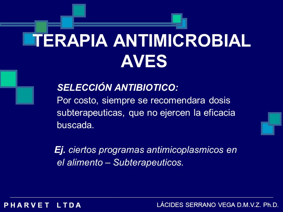 TERAPIA ANTIMICROBIAL AVES