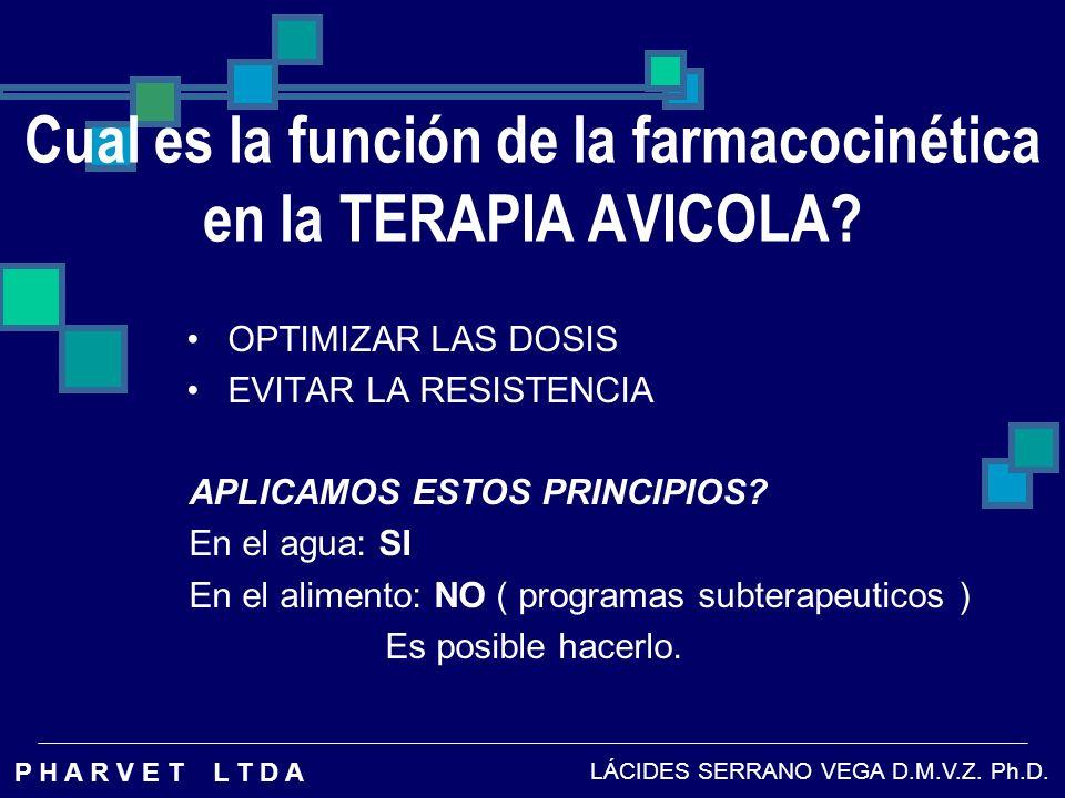Cual es la función de la farmacocinética en la TERAPIA AVICOLA