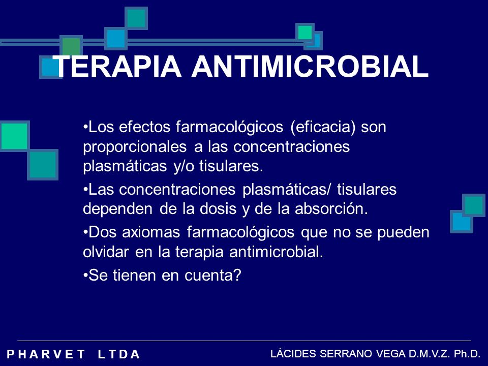 TERAPIA ANTIMICROBIAL