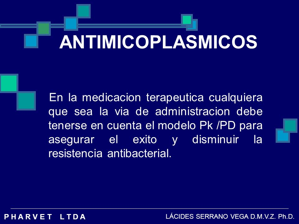 ANTIMICOPLASMICOS