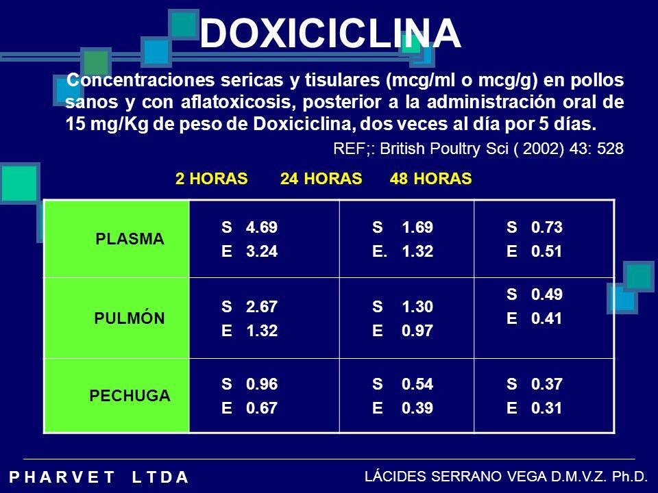 DOXICICLINA 2 HORAS 24 HORAS 48 HORAS