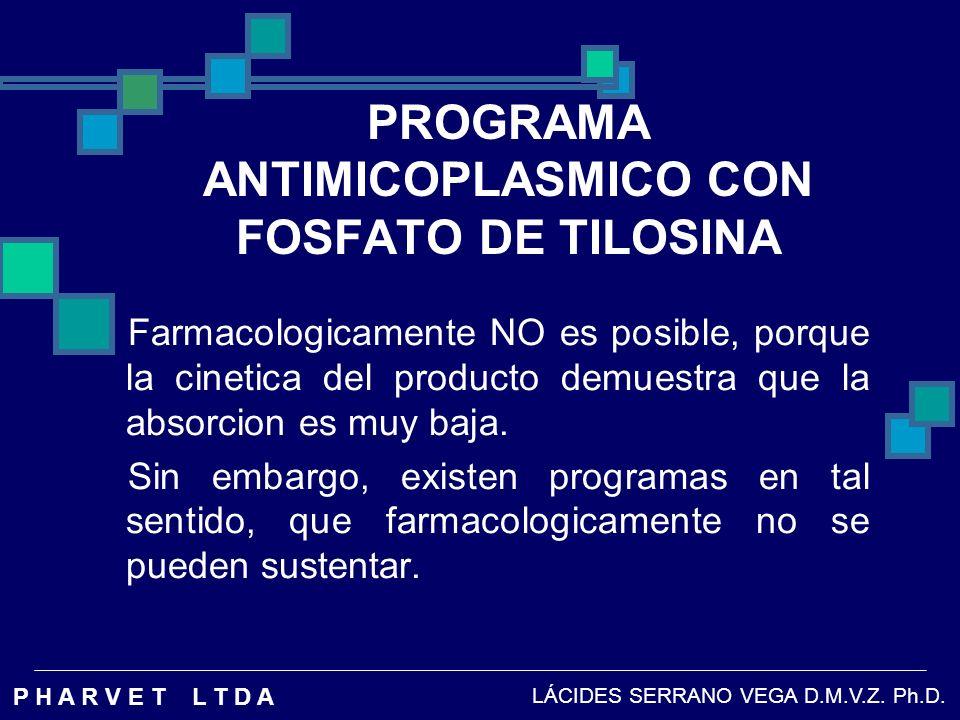 PROGRAMA ANTIMICOPLASMICO CON FOSFATO DE TILOSINA