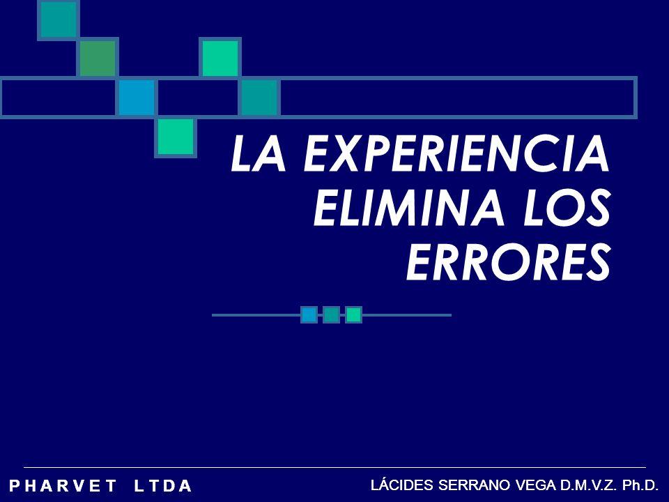 LA EXPERIENCIA ELIMINA LOS ERRORES