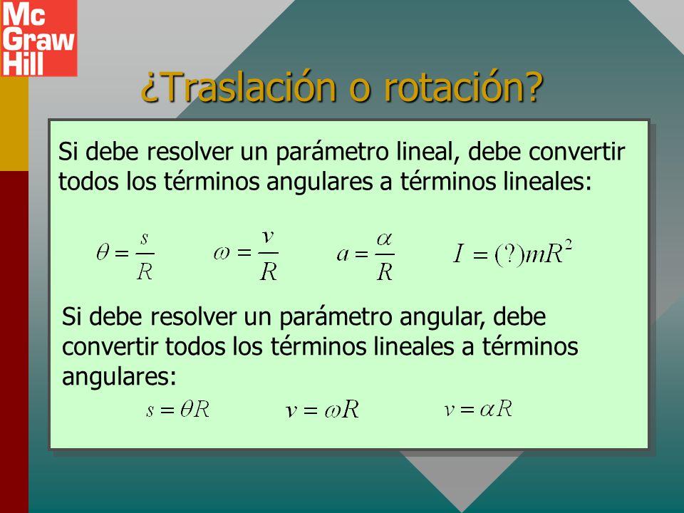 ¿Traslación o rotación