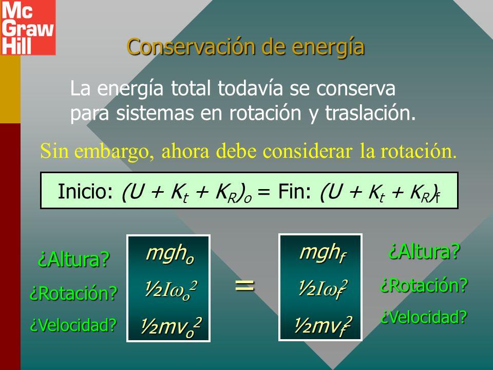 Conservación de energía
