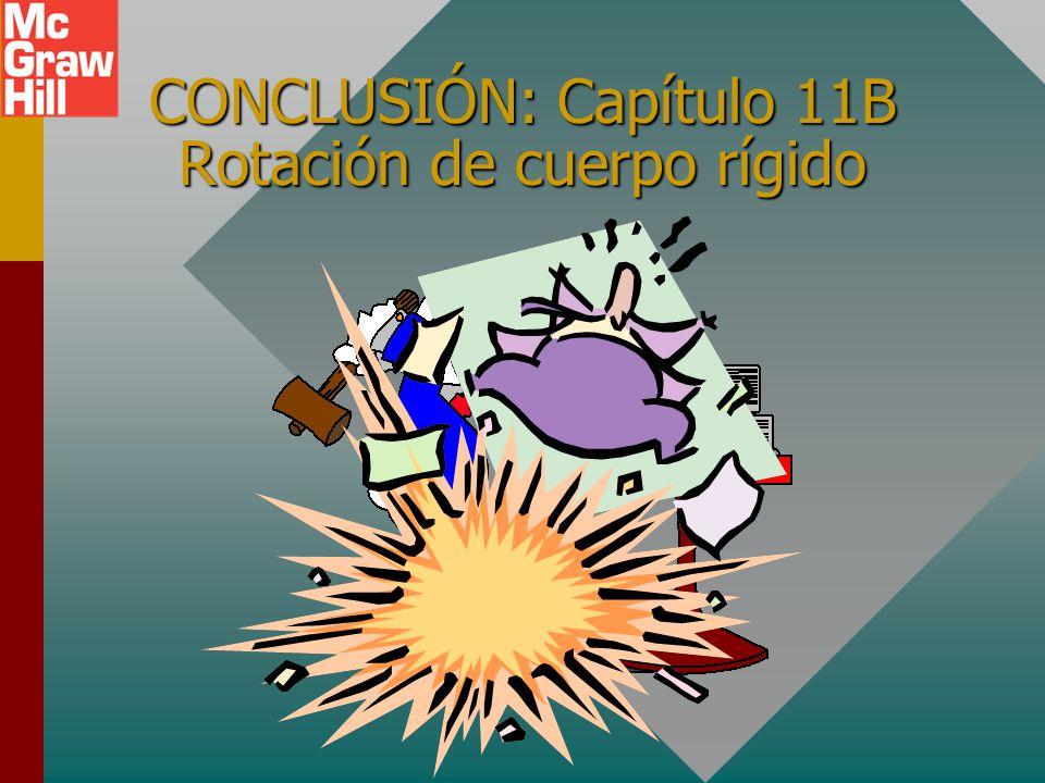 CONCLUSIÓN: Capítulo 11B Rotación de cuerpo rígido