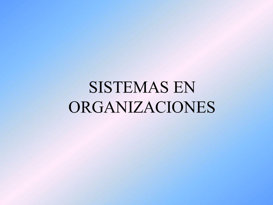 SISTEMAS EN ORGANIZACIONES